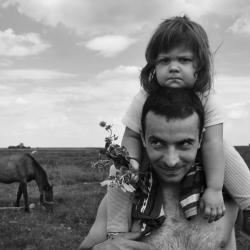 Ostoja et sa fille (Serbie)